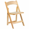 Rental store for CHAIR NATURAL WOOD FOLDING in Ft. Wayne IN