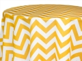 Rental store for LINEN 120R YELLOW   white CHEVRON in Ft. Wayne IN