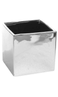 Rental store for VASE CUBE SILVER 5.5x5.5 in Ft. Wayne IN