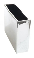Rental store for VASE RECTANGLE SILVER 8x2.5x6 in Ft. Wayne IN