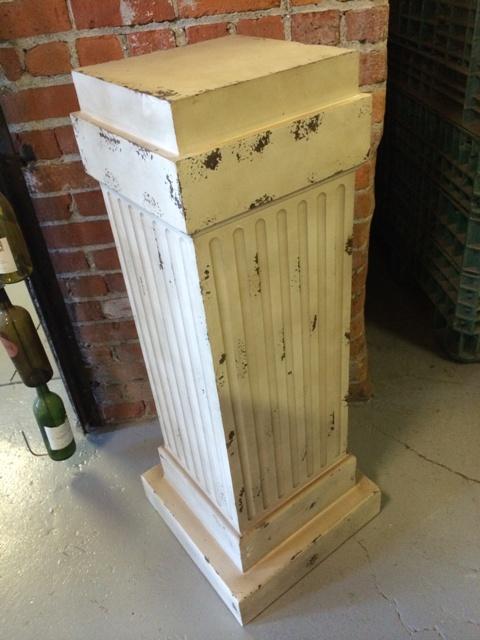 Pedestal Wood Vintage 17x17x43 Inch T Rentals Ft Wayne In