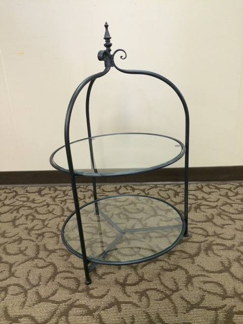 Where to find STAND 2 TIER GLASS RD metal frame 19x32t in Ft. Wayne
