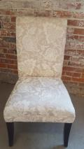 Rental store for CHAIR SIDE UPHOLSTERED IVORY DAMASK in Ft. Wayne IN