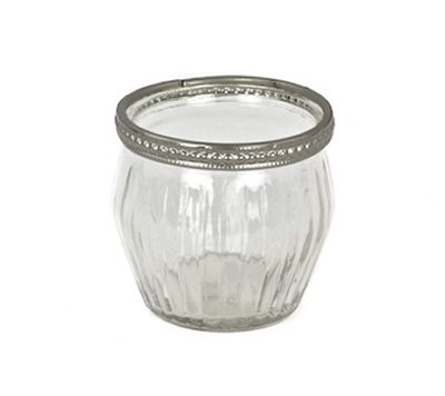 Where to find VOTIVE GLASS ETCHED w  SILVER TRIM in Ft. Wayne