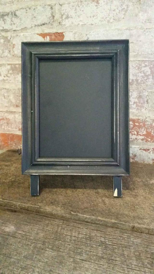 Where to find CHALKBOARD WOOD EASEL TABLETOP 11.75 H in Ft. Wayne