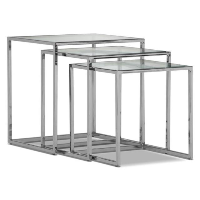 Where to find LOUNGE TABLE GLASS SET OF 3 in Ft. Wayne