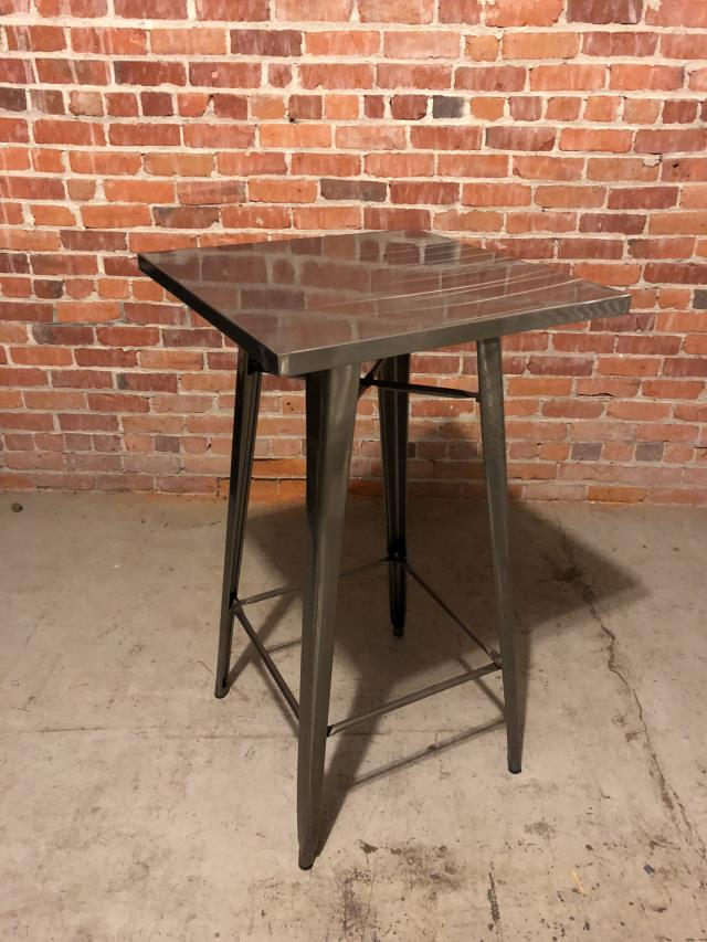 table square 24 inch x 42 inch gunmetal top rentals ft wayne in