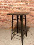 Rental store for TABLE Square 24  x 42  RUSTIC WOOD TOP in Ft. Wayne IN
