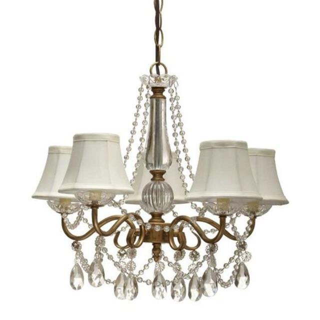 Where to find CHANDELIER GOLD W LAMPSHADES in Ft. Wayne