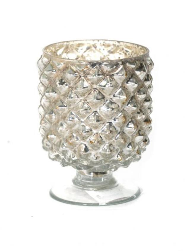 Where to find VOTIVE ANTIQUE SILVER PINECONE 4.5 in Ft. Wayne