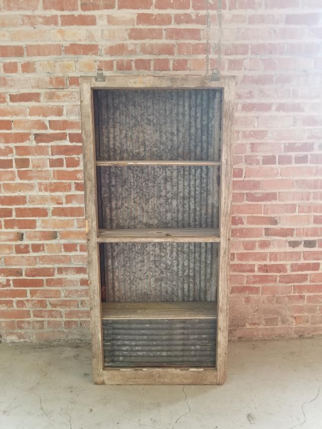 Where to find SHELF RUSTIC TIN   WOOD 61.5  H in Ft. Wayne