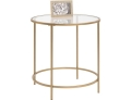 Rental store for ACCENT TABLE GLASS with GOLD FRAME 22 in Ft. Wayne IN