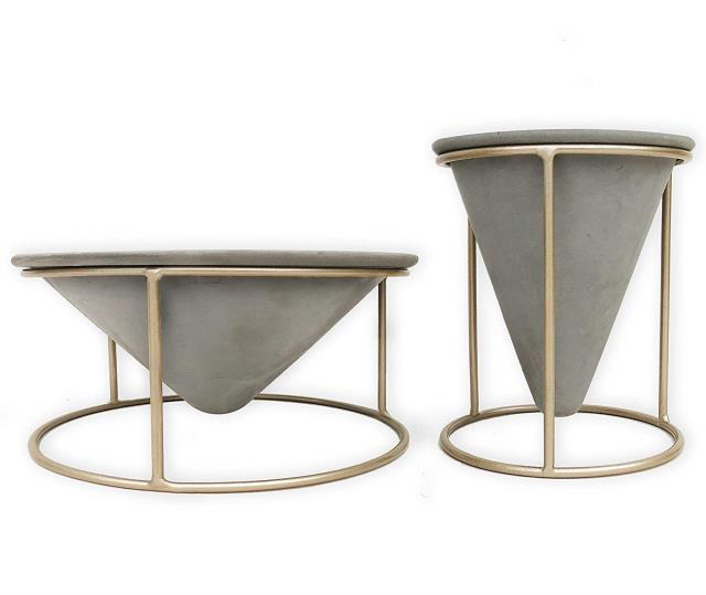 Where to find GEOMETRIC CONCRETE PLANTER SET of 2 in Ft. Wayne