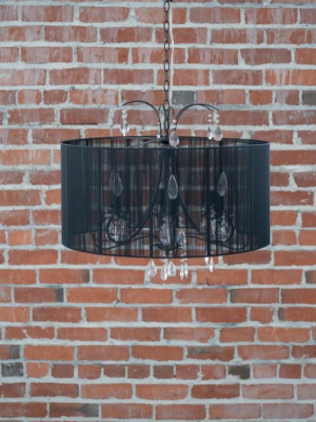 Where to find CHANDELIER BLACK SHEER w CRYSTALS in Ft. Wayne