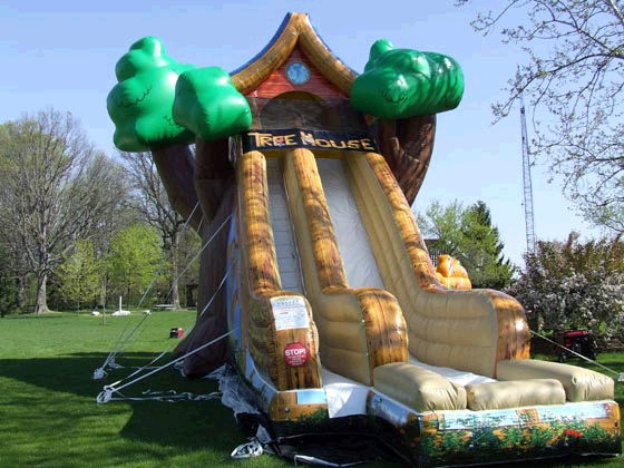 Where to find SLIDE GIANT TREE HOUSE 19x42x30  TALL in Ft. Wayne