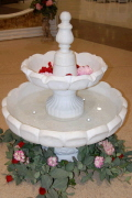 Rental store for FOUNTAIN WATER WHITE 2 TIER 47  TALL in Ft. Wayne IN