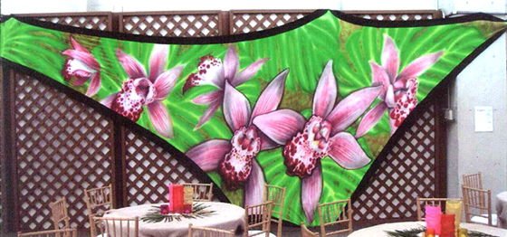 Where to find BACKDROP TROPICAL FLOWER SPANDEX 18x33x2 in Ft. Wayne