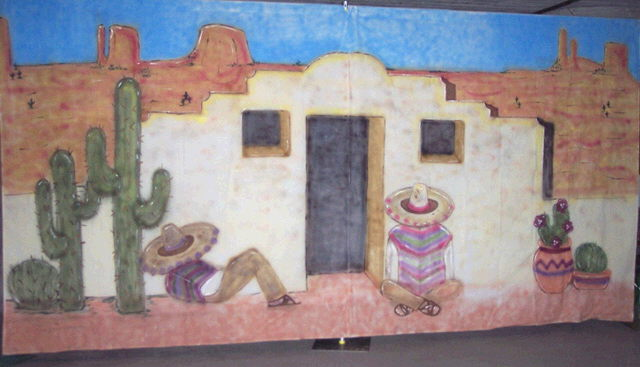 Backdrop Mexican Siesta Adobe House Rentals Ft Wayne In