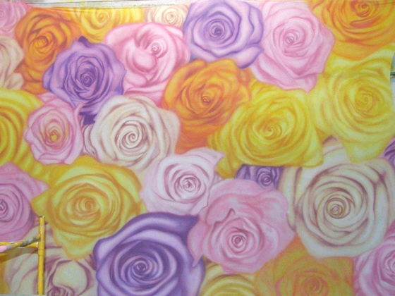 Where to find BACKDROP MULTI COLOR ROSE SPANDEX in Ft. Wayne