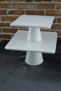 Rental store for CAKE PLATE SQUARE WHITE 11 x 6.25 TALL in Ft. Wayne IN