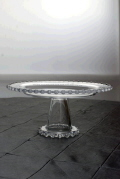 Rental store for CAKE STAND ROUND GLASS 11  x 5  TALL in Ft. Wayne IN