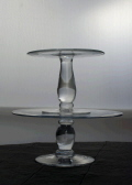 Rental store for CAKE PLATE ROUND GLASS 10x6  TALL in Ft. Wayne IN