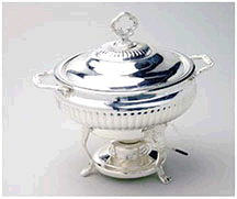 Where to find Chafer 3 Qt RD Silver Glass Food Dish in Ft. Wayne