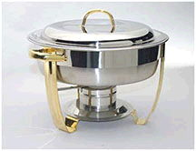 Where to find CHAFER 4 QT ROUND STAINLESS w GOLD HDL in Ft. Wayne