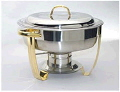 Rental store for CHAFER 4 QT ROUND STAINLESS w GOLD HDL in Ft. Wayne IN