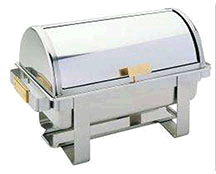 Where to find CHAFER 8 QT ROLLTOP STAINLESS w BRASS HD in Ft. Wayne