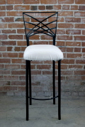 Rental store for BARSTOOL PADDED WHITE CHAIR IRON in Ft. Wayne IN