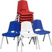 Where to find CHILDS STACKING CHAIR WHITE in Ft. Wayne