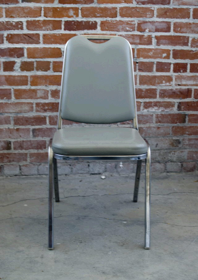 Where to find CHAIR PADDED GREY VINYL STACKABLE in Ft. Wayne