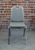 Rental store for CHAIR PADDED GREY VINYL STACKABLE in Ft. Wayne IN
