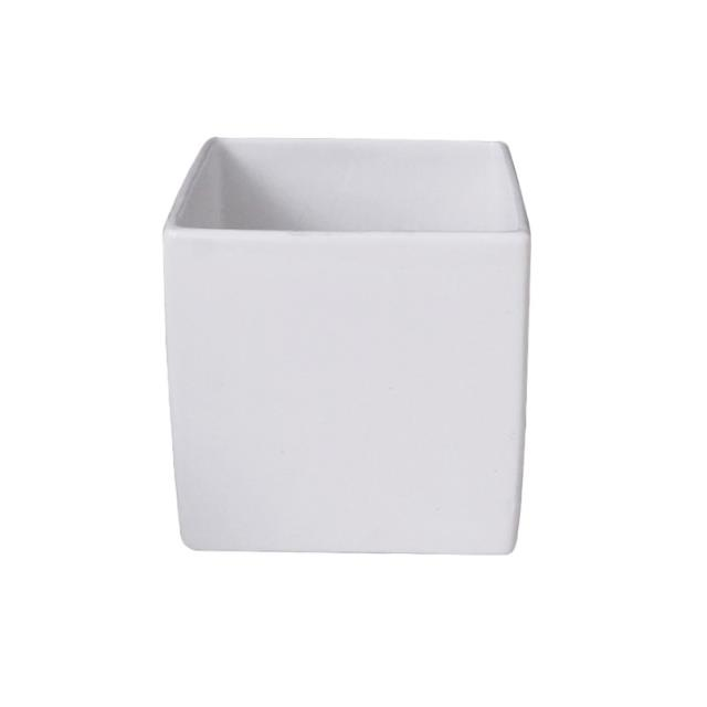 Where to find VASE CUBE WHITE 4.75  sq in Ft. Wayne