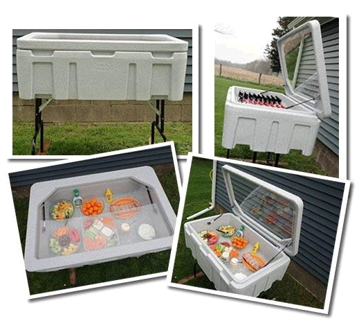 Where to find TAILGATE COOLER w folding legs 44x29x10 in Ft. Wayne