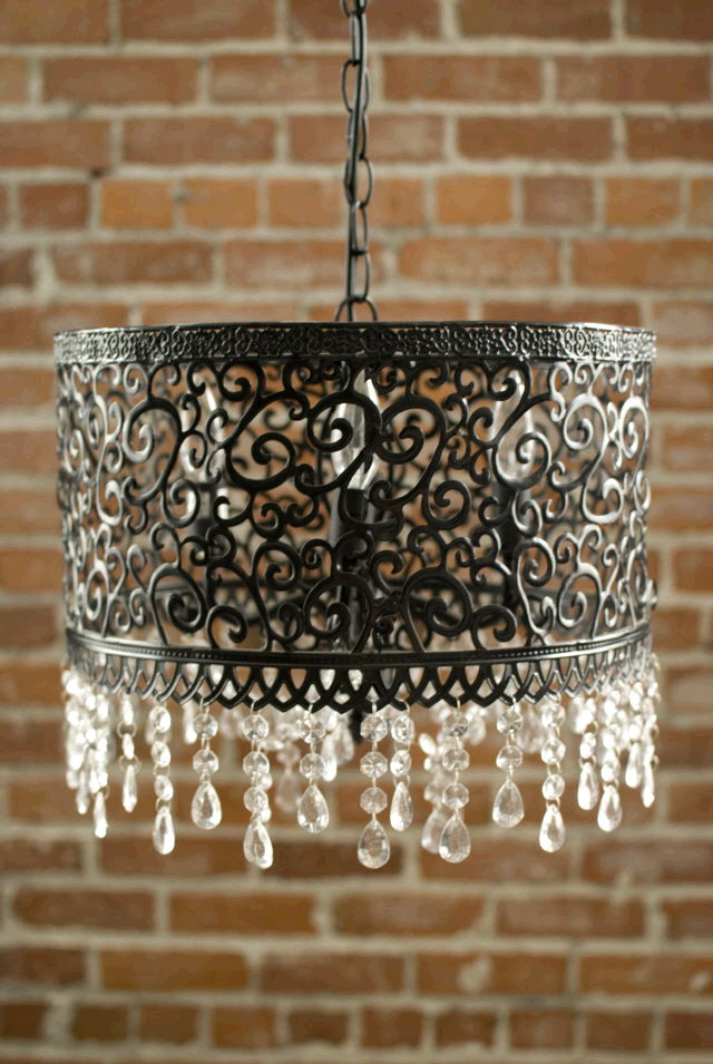 Where to find Chandelier Black Metal 16x16x14 tall in Ft. Wayne