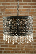 Rental store for Chandelier Black Metal 16x16x14 tall in Ft. Wayne IN