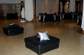 Rental store for LOUNGE OTTOMAN BLACK LEATHER SQ in Ft. Wayne IN