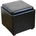 Rental store for LOUNGE OTTOMAN BLACK 2x2 in Ft. Wayne IN