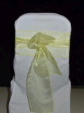 Rental store for CHAIRTIE YELLOW ORGANZA 7x105 in Ft. Wayne IN