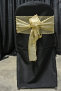 Rental store for CHAIRTIE GOLD ANTIQUE ORGANZA 7x105 in Ft. Wayne IN
