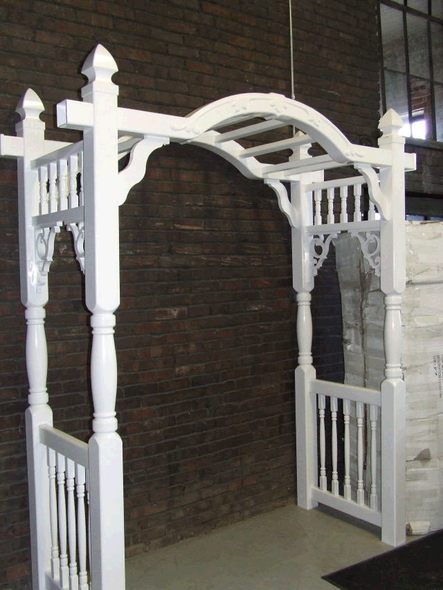 Where to find Arch White Arbor 66 x 84  Tall in Ft. Wayne
