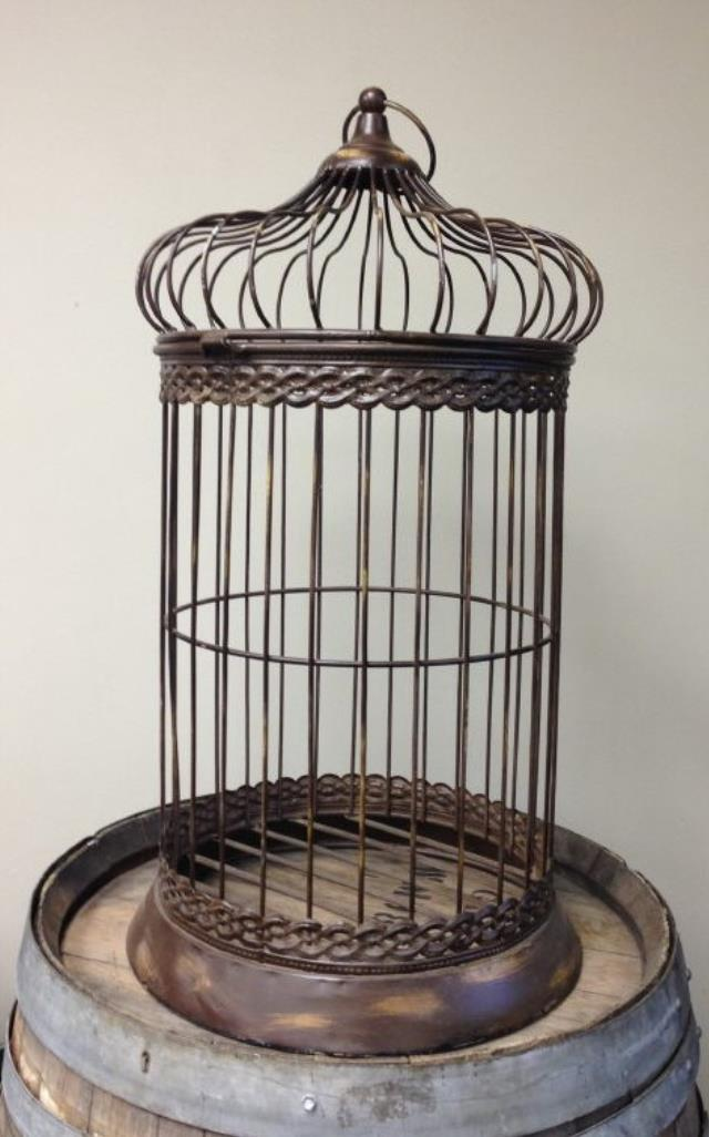 Where to find CARD HOLDER BIRD CAGE METAL BROWN 30 in Ft. Wayne