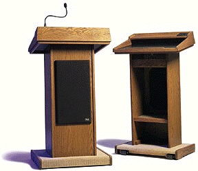 Where to find LECTERN WOOD 25 x 20 x 46  tall in Ft. Wayne
