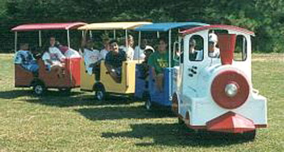 TRACKLESS TRAIN W 3 PASSENGER CARS Rentals Ft. Wayne IN