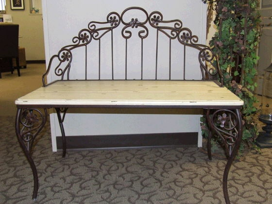 Where to find BENCH Garden Iron ivory wood 38x20x17 in Ft. Wayne
