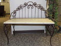 Rental store for BENCH Garden Iron ivory wood 38x20x17 in Ft. Wayne IN