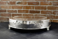 Rental store for CAKE STAND ROUND SILVER ROSE 18x4  T in Ft. Wayne IN