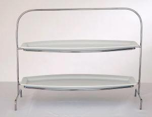 Where to find STAND 2 TIER w 2 OBLONG TRAYS 9x25 in Ft. Wayne